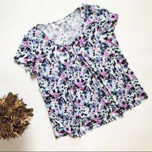 Womens Croft & Barrow Floral Top - Sz L Petite